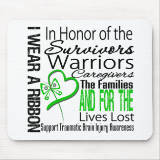 In Tribute Collage Traumatic Brain Injury Mouse Pad