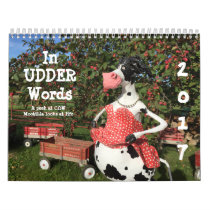 In UDDER Words is a huMOOrous COWlendar Calendar