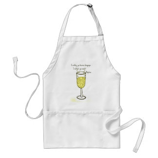 In victory, you deserve champagne print by jill adult apron