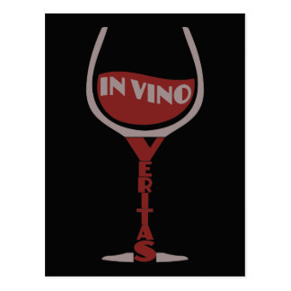 In Vino Veritas custom postcard