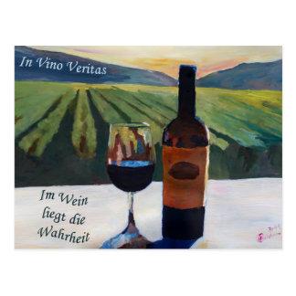 In Vino Veritas - Im Wein liegt die Wahrheit Postcard