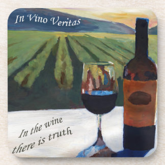 In Vino Veritas - The truth is in the wine Beverage Coasters