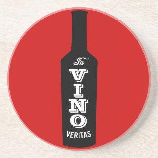 In Vino Veritas Wine Lover Gift Coaster