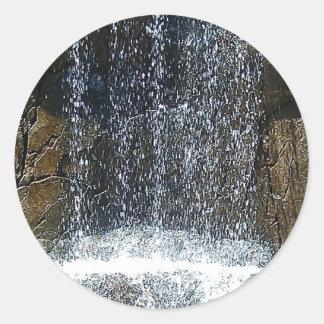 In-Waterfall Classic Round Sticker