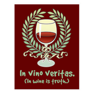 In Wine Is Truth Postcard