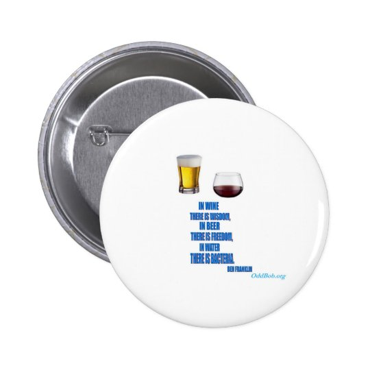 In Wine... Pinback Button