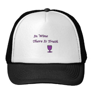 In Wine There Is Truth Trucker Hat