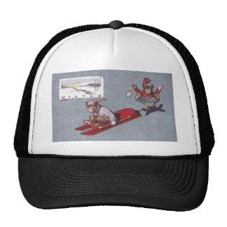 In Winter Teddy Bears Go Sledding Trucker Hat