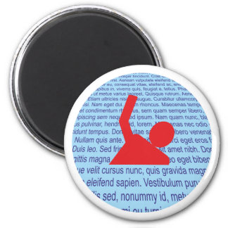 In words drown drowning in words 2 inch round magnet