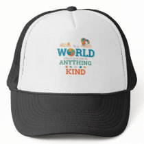 In World Anything Be Kind Puzzle Autism Awareness Trucker Hat