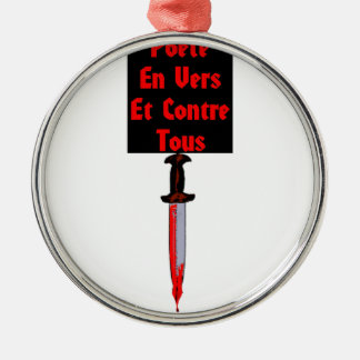 In Worms and Against All - François Word games Metal Ornament