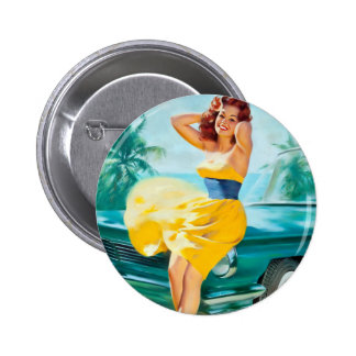 In Yellow Dress Pin Up