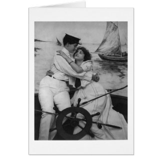 In Your Arms Lesbian Women Sailor Greeting Card