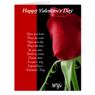In your arms on valentine's day card