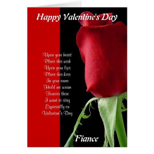 In your arms on valentine's day fiance card