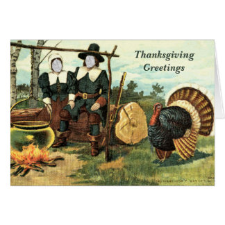 In Your Face Vintage Thanksgiving ... Card