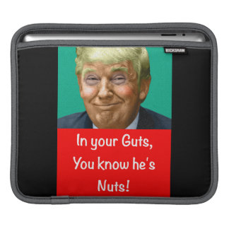 In your Guts, you know he's Nuts! iPad Sleeve