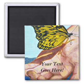 In Your Hands 2 Inch Square Magnet