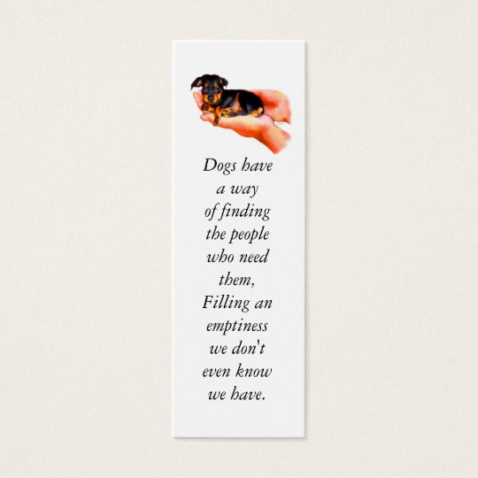 In Your Hands (Please Spay & Neuter) Bookmark Mini Business Card