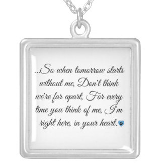 In Your Heart Blue Paw Print Necklace