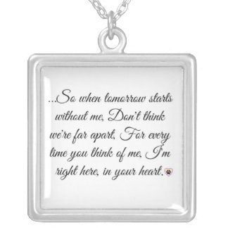 In your Heart Pink Paw Print Necklace