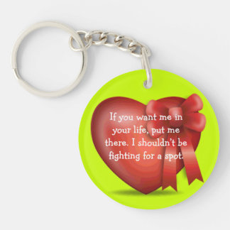 in your life acrylic keychain