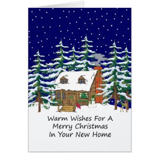 In Your New Home Christmas Cabin Card