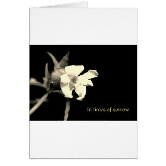 In your time of sorrow greeting card