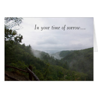 In your time of sorrow card