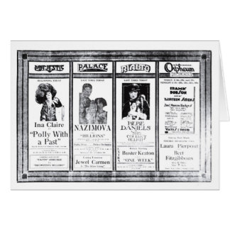Ina Claire Nazimova Bebe Daniels movie ads 1921 Card