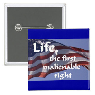 Inalienable Right 2 Inch Square Button