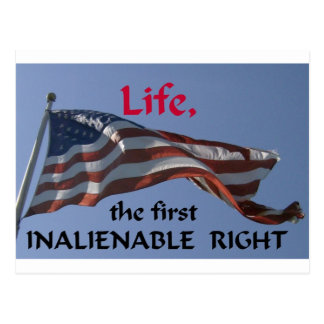 Inalienable Right Postcard