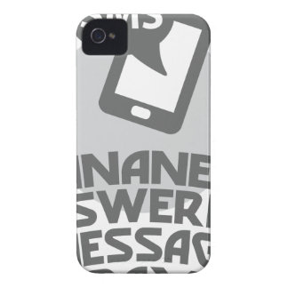 Inane Answering Message Day - Appreciation Day iPhone 4 Cover