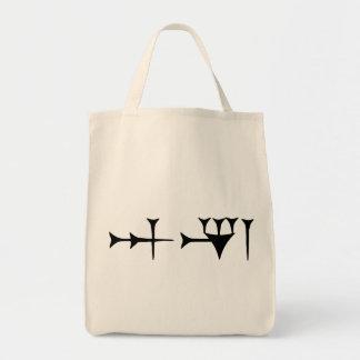 Inanna cuneiforme bolsa tela para la compra