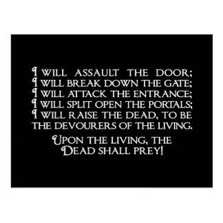 Inanna/Ishtar Entering Underworld Quote Postcard