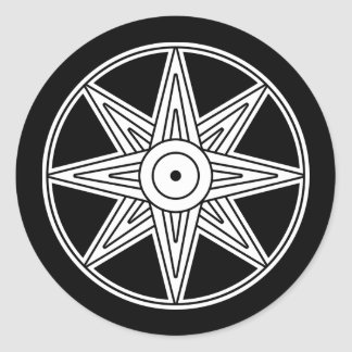Inanna Star Symbol Round Sticker