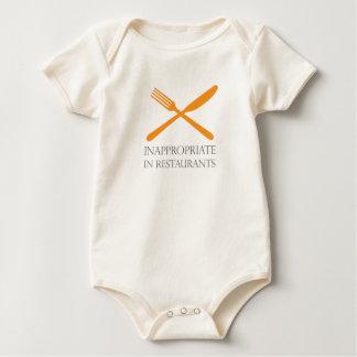 Inappropriate in Restaurants Baby Bodysuit