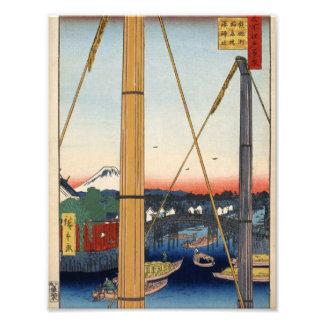 Inari bridge and Minato shrine, Teppōzu Photo Print