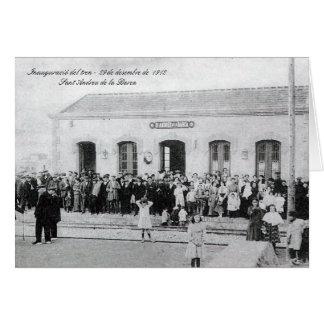 Inauguració of the train - Sant Andreu of the Boat Card