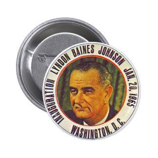 Inauguración 1965 de LBJ - botón Pins