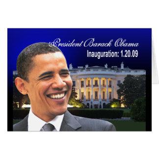 Inauguración 1-20-09 tarjeta de felicitación