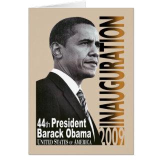 Inauguración 2009 (beige) tarjeta de felicitación