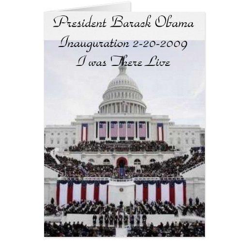 Inauguración 2009 de presidente Barack Obama Tarjeton