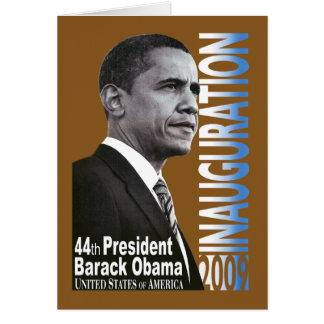 Inauguración 2009 (marrón) tarjeta de felicitación