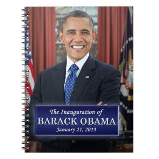 Inauguración 2013 de Barack Obama Libreta Espiral