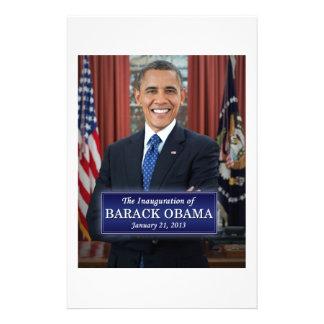 Inauguración 2013 de Barack Obama Papelería