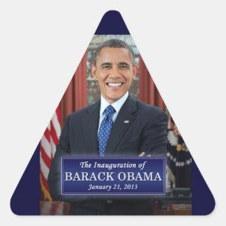 Inauguración 2013 de Barack Obama Calcomanías De Triangulos