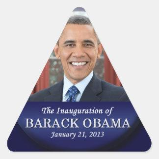 Inauguración 2013 de Barack Obama Pegatinas Trianguladas