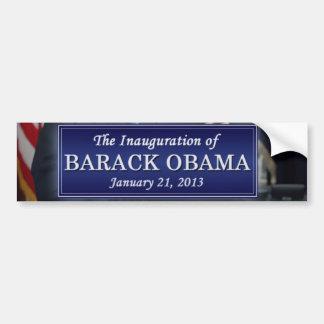 Inauguración 2013 de Barack Obama Pegatina Para Auto