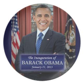 Inauguración 2013 de Barack Obama Plato Para Fiesta
